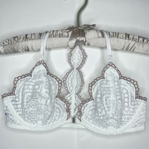 Free People NWT White Slow Dance Underwire Bra 34C